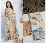 Attractive Bollywood Linen Digital printed Saree # C002