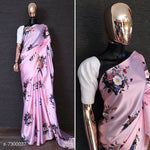 Stylish Satin Bollywood  Floral Print saree # S008