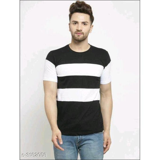 Black/White-Comfortable-T-Shirts