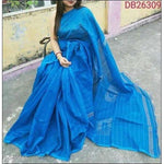 Blue Cotton Silk Trendy and Stunning Handloom Party Wear Saree