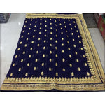 Blue Designer Heavy Stone Work Party Saree