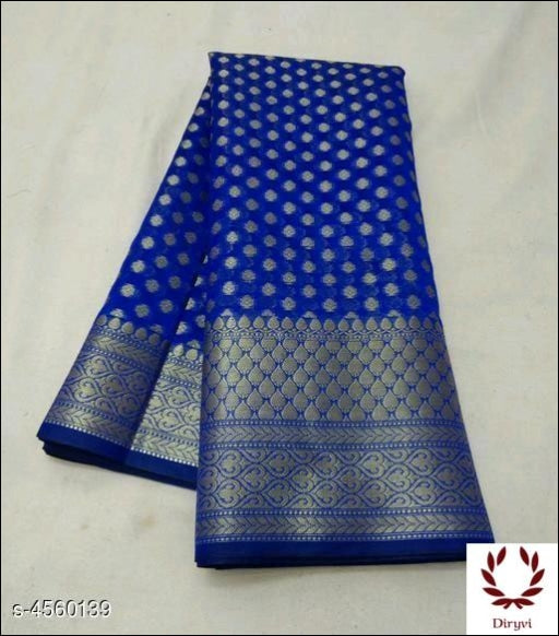 Blue Sari Woven Georgette Silk Saree Party saree