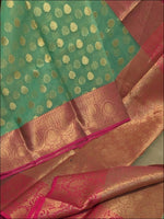 Bottle Green Grand And Trendy Kora Muslin Party Saree Silk Saree