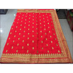 Bright Red Designer Heavy Stone Work Party Saree