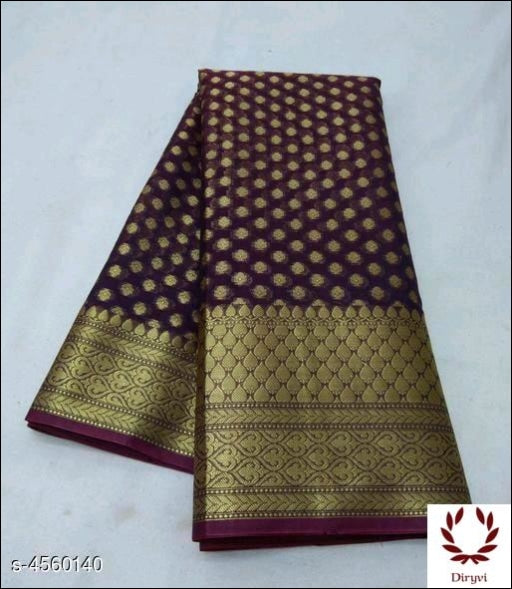 Brown Sari Woven Georgette Silk Saree Party saree