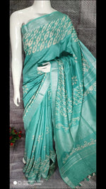 Cotton linen batik sarees Saree