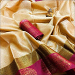 Creme Ravishing Banarasi Silk Party saree
