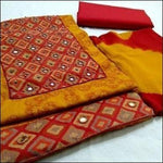 Elegant Daily Wear Salwar Material With Mirror Work