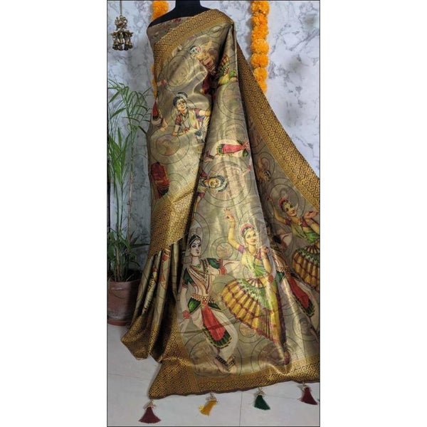 Elegant Soft Art Silk With Heavy Richness And Elegant Tussels