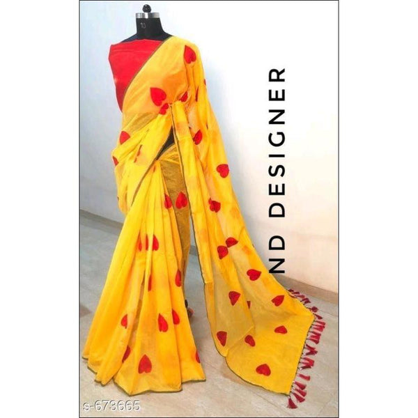 Fabulous Chanderi Cotton Embroidered sarees