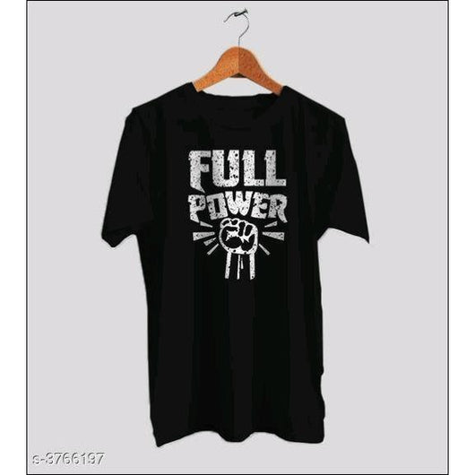 FULL-POWER-Men's-Black-T-Shirts
