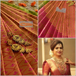 Gold and Pink Exclusive Bridal Collection Silk Saree