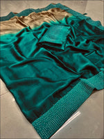 Green Double Shade Rangoli Silk Elegant Party Saree Party saree