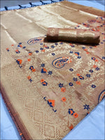 Grey Antique And Gorgeous Soft Silk Saree Silk Saree
