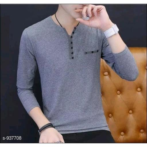 Grey-Full-Sleeve-Cotton-T-Shirts