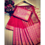 Magenta Doriya Summer Wear Party Saree