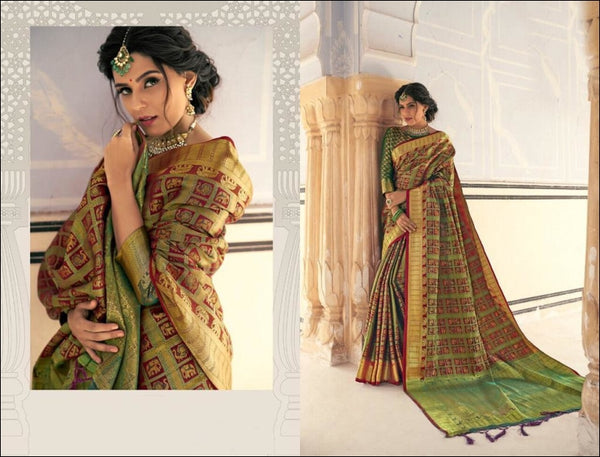 Maroon Banarasi Silk Weaving Silk Saree With All Over Sari Silk Saree