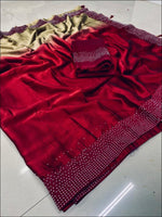 Maroon Double Shade Rangoli Silk Elegant Party Saree Party saree
