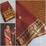 Maroon Exclusive Bridal Collection Silk Saree