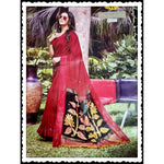Maroon Trendy Linen Party Saree With Fancy Tussels