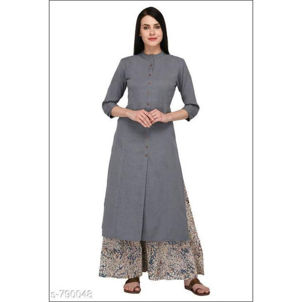 Modern Coloured Cotton Kurthi With Trendy Printed Palazzo Sets