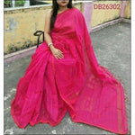 Pink Cotton Silk Trendy and Stunning Handloom Party Wear Saree