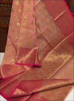Pink Grand And Trendy Kora Muslin Party Saree Silk Saree