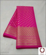 Pink Sari Woven Georgette Silk Saree Party saree