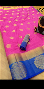 Pink Tussar silk saree Silk Saree