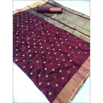 Purple Elegant and Traditional Soft Silk Saree With Butti Weaving