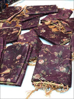 Purple Organza Silk Elegant Party Saree With Digital Print Party saree