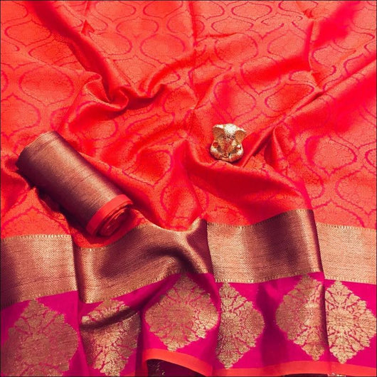 Red Ravishing Banarasi Silk Party saree Party saree