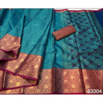 Sea Blue With Pink Elegant and Traditional Pure Tanchuri Silk Saree