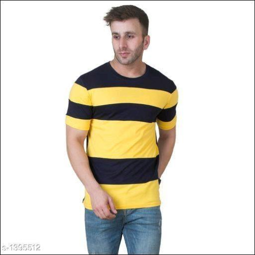 Stripped-Yellow/Black-T-Shirts