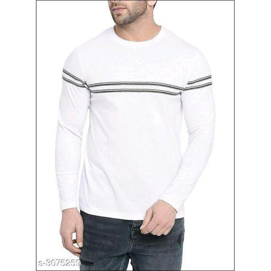 White-Cotton Full Sleeve T-Shirts