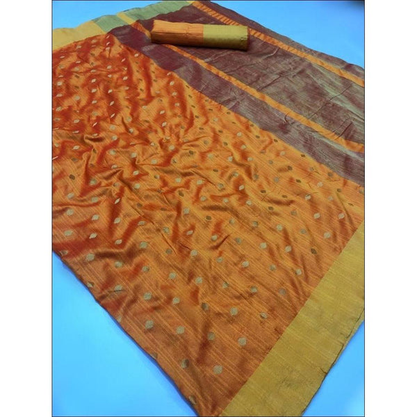 Yellow Elegant and Traditional Soft Silk Saree With Butti Weaving