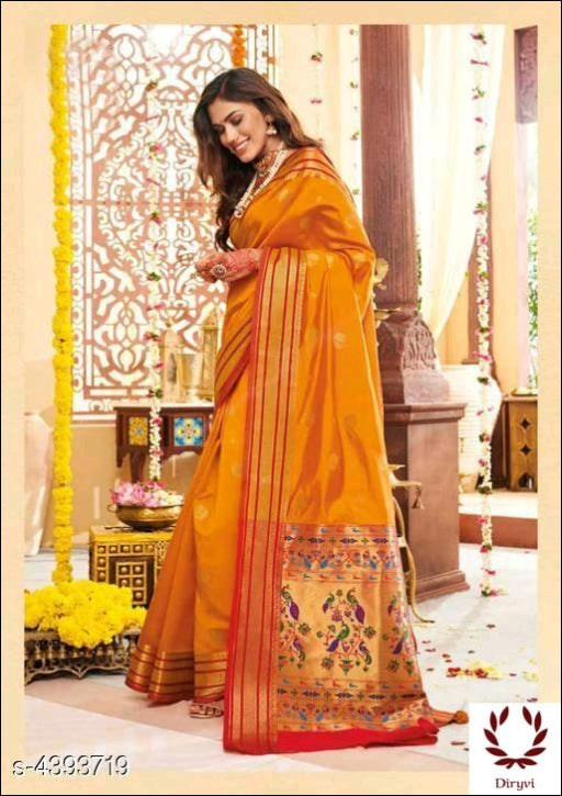 Yellow Stunning Traditional Soft Silk Saree Silk Saree