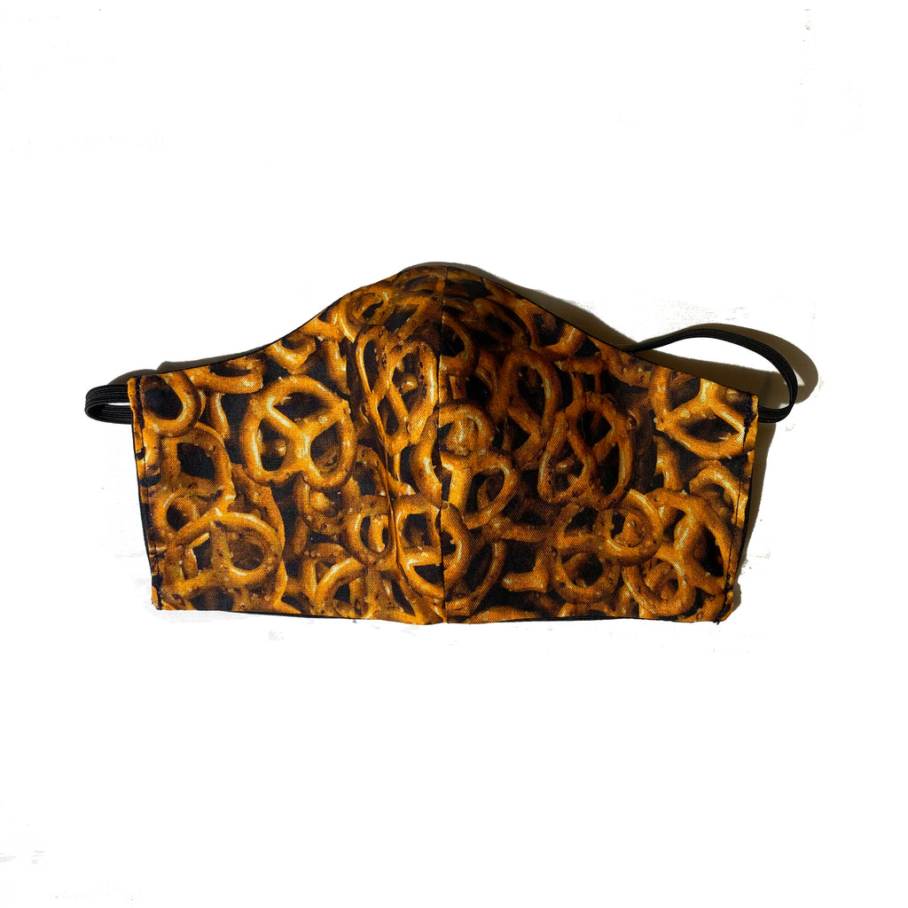 Reusable Tasty Pretzel Face Mask