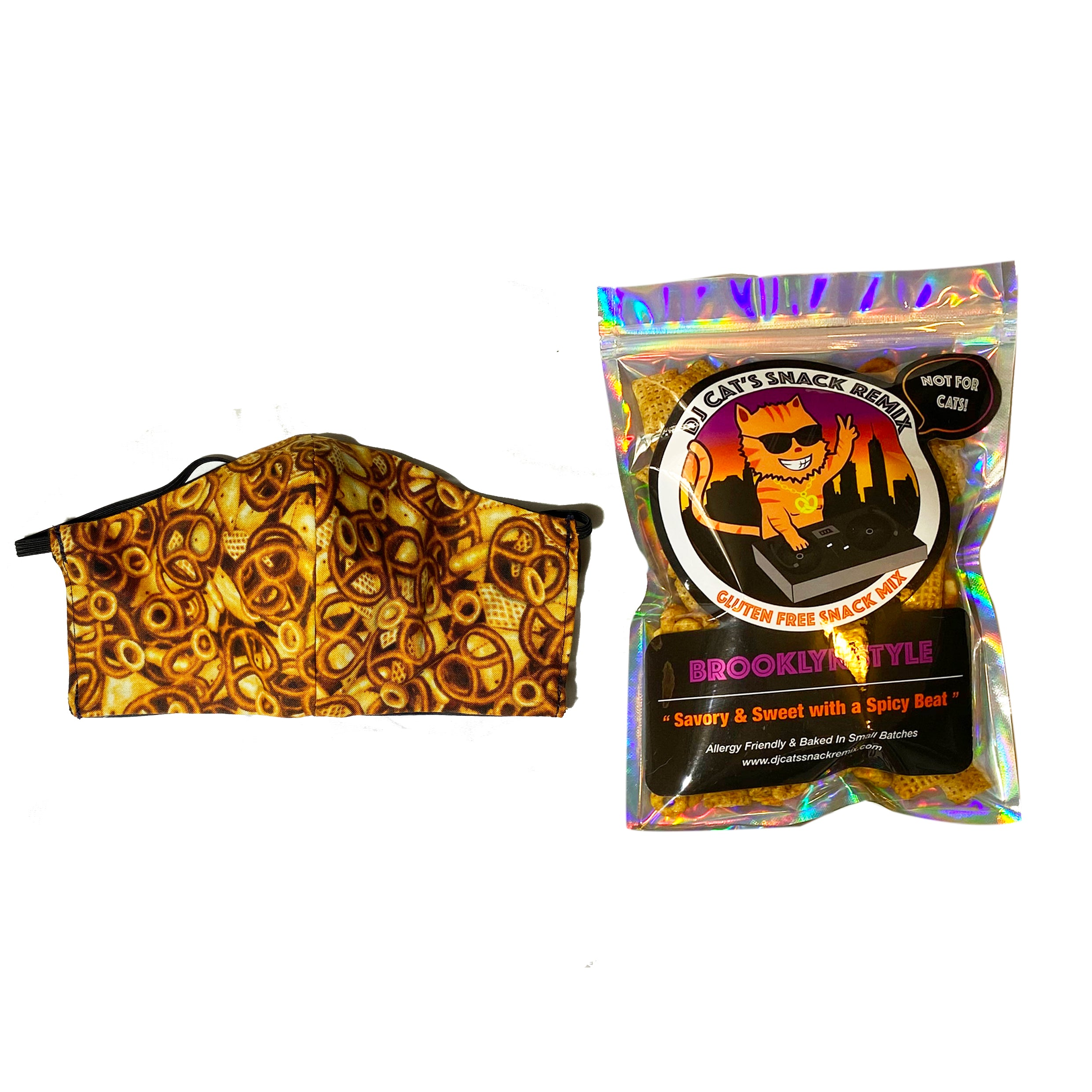 1 Mini Brooklyn Style + 1 Reusable Limited Edition Snack Mix Face Mask