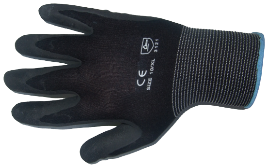 Black Nitrile Gloves - X Large