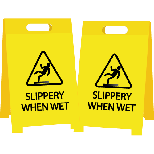 Slippery When Wet Floor Stand