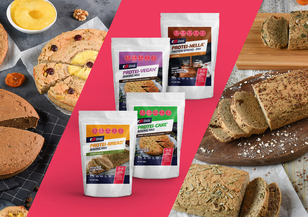 the craving busters complete high protein range, gluten free, dairy free, gym, dry mix, cake, bread
