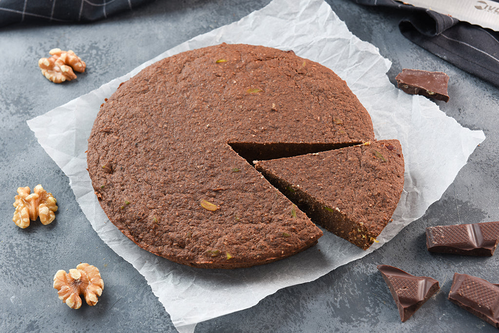 Chocolate walnut Protei-Cake