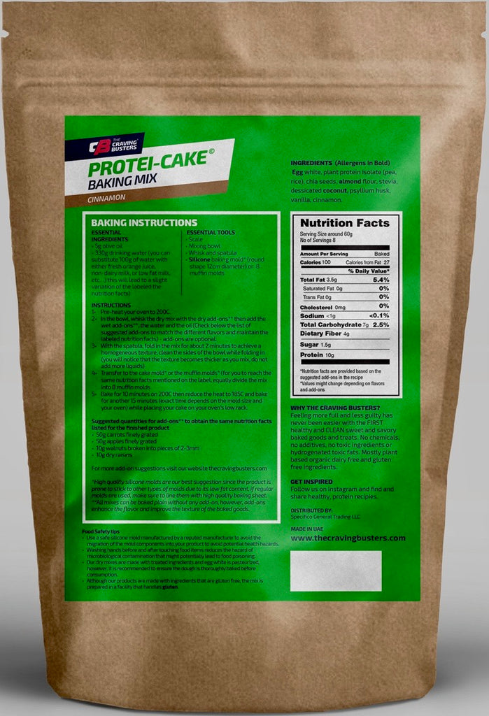 PROTEI-CAKE CINNAMON BAKING MIX