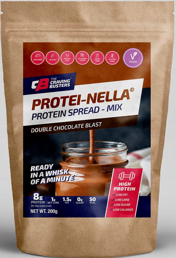 PROTEINELLA DOUBLE CHOCOLATE BLAST MIX- VEGAN