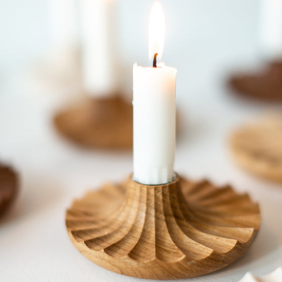 Daggkåpa Candle Holder _ OAK