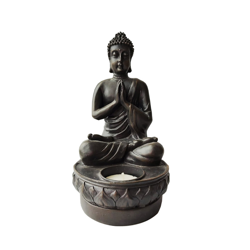 Porta vela Budda Brown