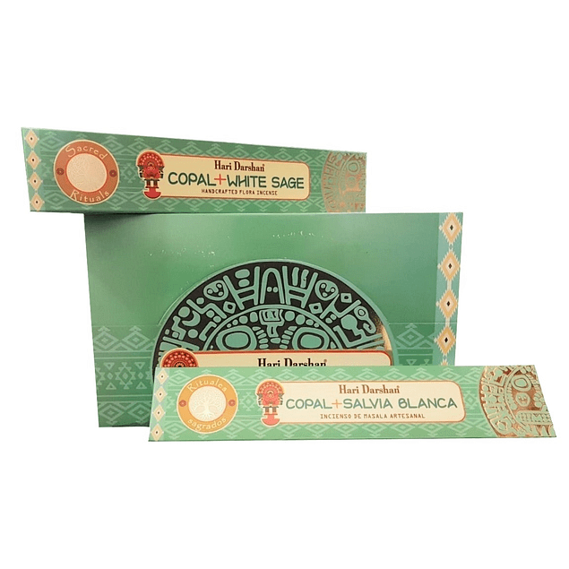 Incienso Natural Copal Salvia Blanca - Hari Darshan