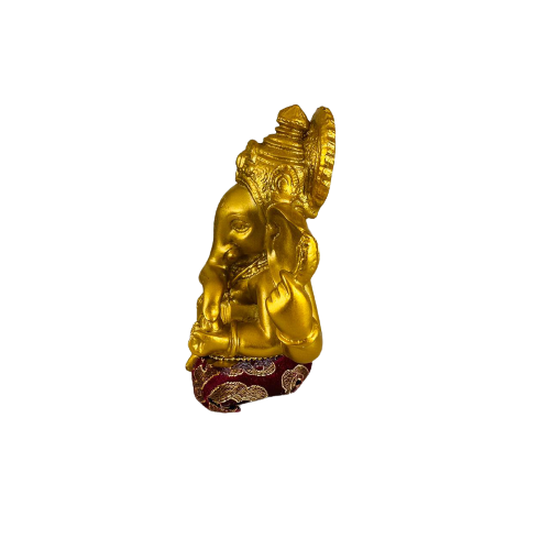 Figura Ganesh Gold & Red Mediana