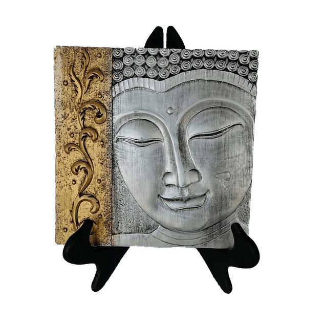 Adorno Cara Budda Silver and Gold